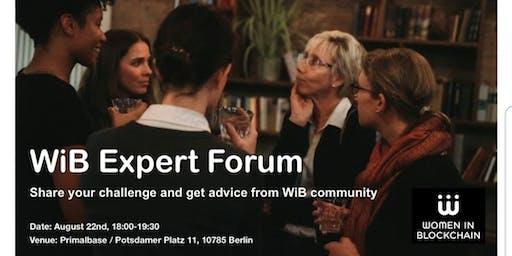 Women in Blockchain proudly presents the Blockchain Expert Forum
