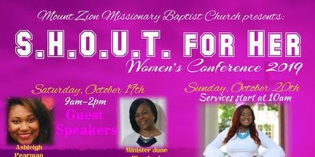 S.H.O.U.T. for  Her! Women's Conference 2019 tickets
