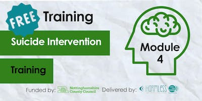 CANCELLED: FREE Module 4 Suicide Intervention Training- Broxtowe (Third Sector Front Line)