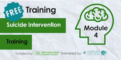 FREE Module 4 Suicide Intervention Training- Mansfield (Third Sector Front Line)
