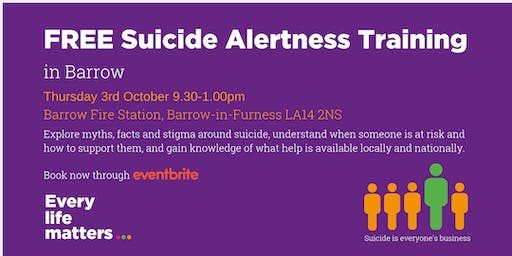 FREE Suicide Alertness Training - Barrow
