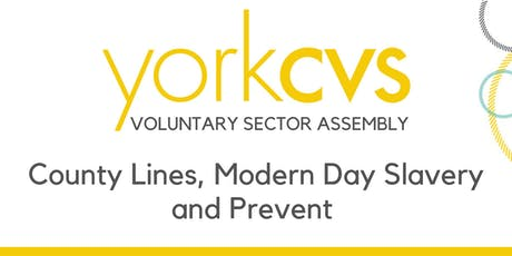 Voluntary Sector Assembly - County Lines, Modern Day Slavery and Prevent tickets