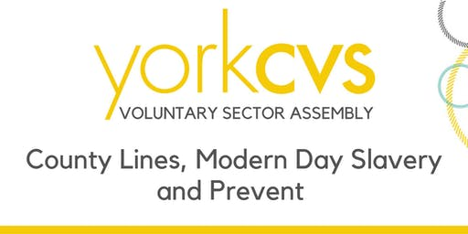 Voluntary Sector Assembly - County Lines, Modern Day Slavery and Prevent