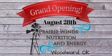 GRAND Opening celebration with Prairie Winds Nutrition & Energy tickets