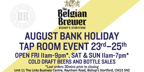The Belgian Brewer - Tap Room - Bishop's Stortford - 25th August tickets