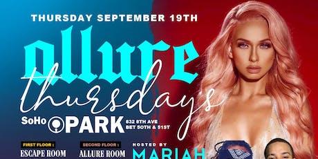 MARIAH LYNN HOSTS ALLURE THURSDAYS (LADIES FREE) #CUTTYPALANCE tickets
