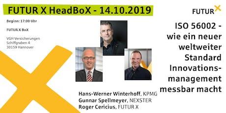 FUTUR X HeadBoX - Hans-Werner Winterhoff, Gunnar Spellmeyer und Roger Cericius Tickets