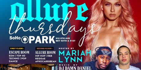 ALLURE THURSDAYS FEAT LOVE N HIPHOP (FREE THURSDAY NIGHT PARTY) #CUTTYPALANCE tickets