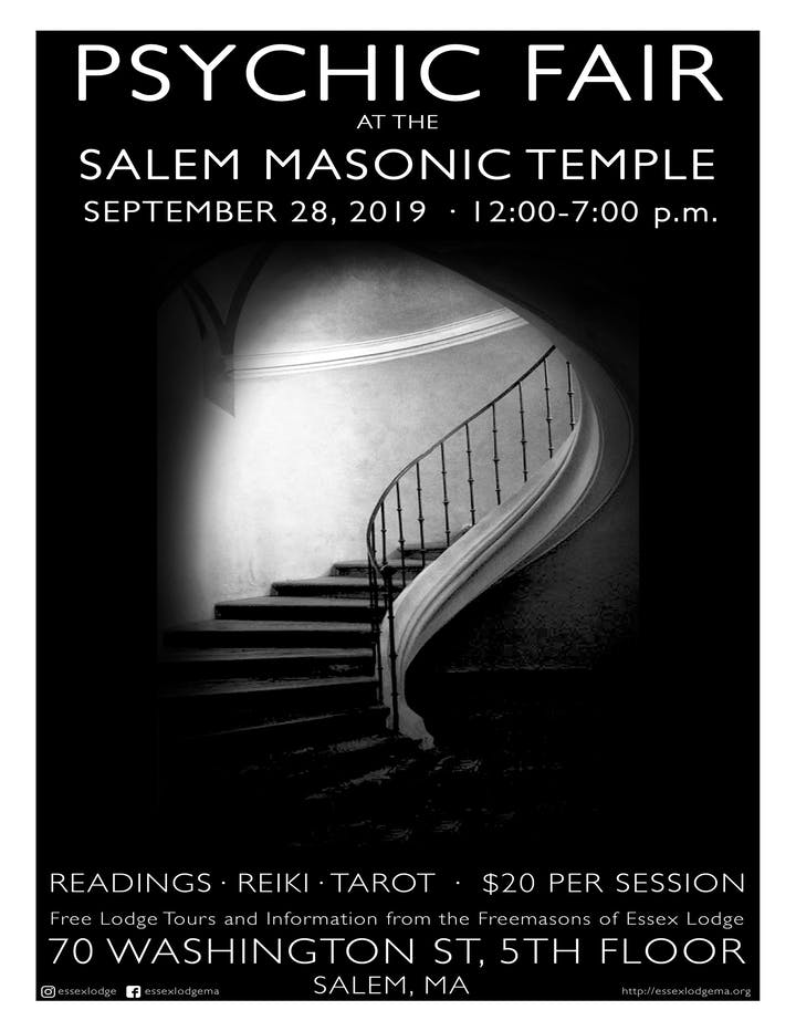 Psychic Fair at the Salem Masonic Temple Tickets, Sat, Sep