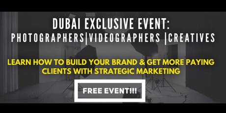 Seminar on Photographers Brand Building & Getting More New Clients tickets