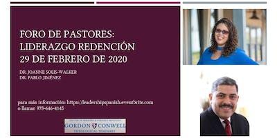 Foro de Pastores: Liderazgo & Redencion
