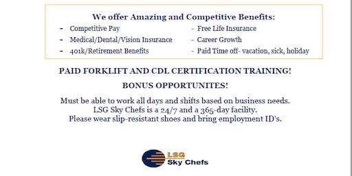 LSG Sky Chefs on-site job fair