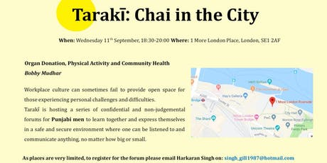Taraki: Punjabi Men's Forum: Organ Donation, Physical Activity and Diet tickets