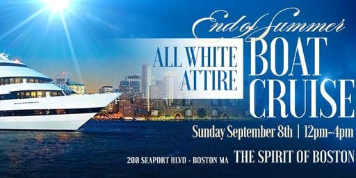 End of Summer ALL WHITE Attire Boat Cruise