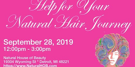 Help For Your Natural Hair Journey  tickets
