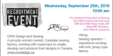 CRW Design Hiring event tickets