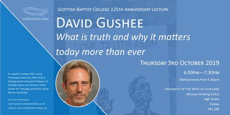 David Gushee: What is Truth and why it matters today more than ever? tickets