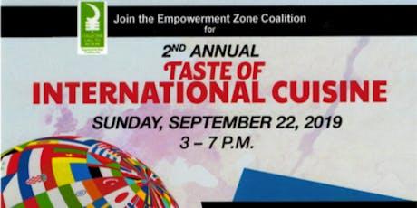 2nd Annual Taste of International Cuisine tickets