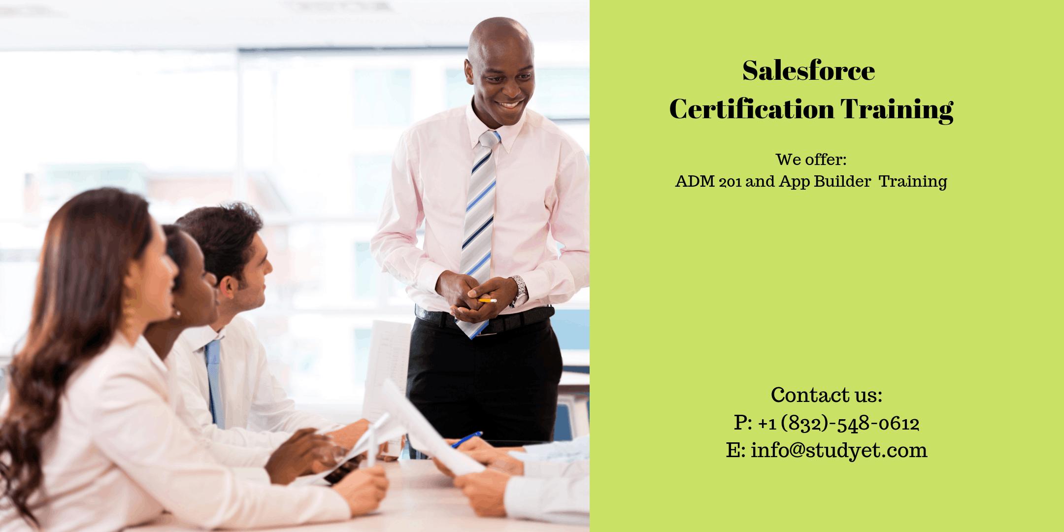 Salesforce Admin 201 & App Builder Certification Training in Charlottesville, VA