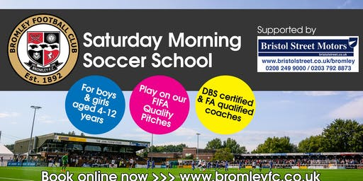 Saturday Morning Soccer School: September-December