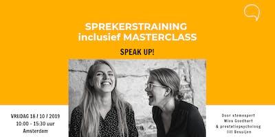 Sprekerstraining incl. Masterclass Speak Up!