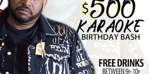 DJ caesah $500 karaoke bday bash