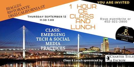 1 Hour CE Class/Luncheon-Emerging Tech & Social Media tickets