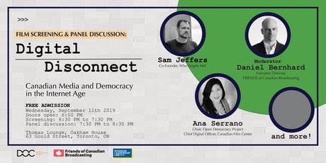 Digital Disconnect - Canadian Media and Democracy in the Internet Age tickets