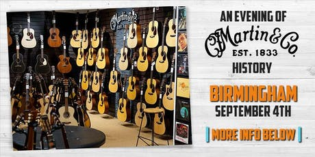 An Evening of Martin History at guitarguitar Birmingham  tickets