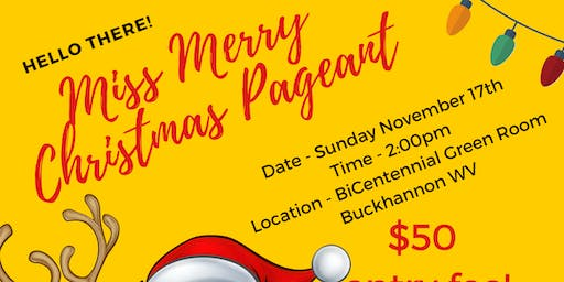 Miss Merry Christmas Pageant