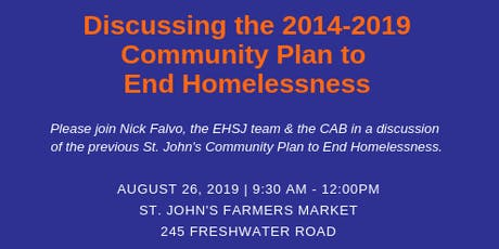 Discussing the 2014-2019 Community Plan to End Homelessness tickets