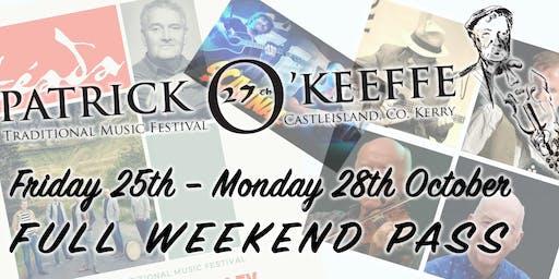 FULL WEEKEND PASS (Patrick O'Keeffe Festival, Castleisland)