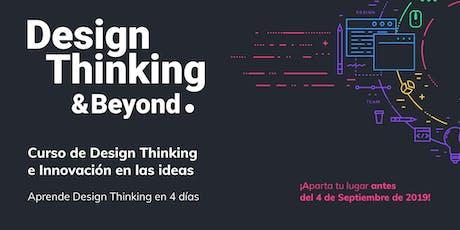 Curso de Design Thinking e Innovación en las ideas boletos