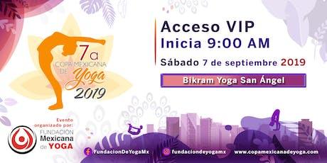 7a Copa Mexicana de Yoga 2019 Acceso Espectador boletos