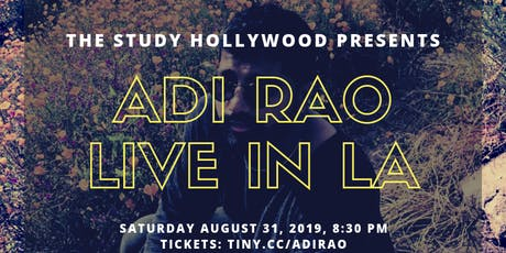 Adi Rao Live at The Study Hollywood tickets