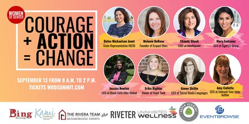 COURAGE + ACTION = CHANGE: Women of Denver Fall Summit