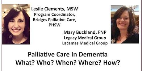 HOPE Community Education - Palliative Care in Dementia tickets
