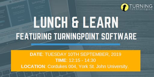 York St John University: TurningPoint Lunch & Learn launch session