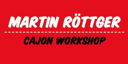 Cajon Workshop mit Martin Röttger | Frankfurt