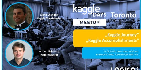 First Kaggle Days Meetup in Toronto tickets