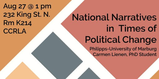 National Narratives in  Times of  Political Change