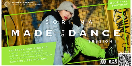 Made to Dance Tour: SORI NA Workshop 1 tickets