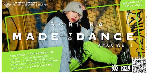 Made to Dance Tour: SORI NA Workshop 1
