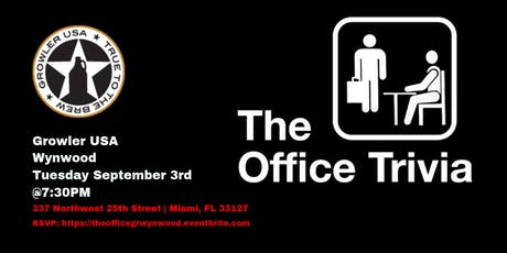 The Office Trivia at Growler USA Wynwood tickets