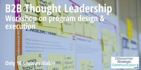 B2B thought leadership workshop tickets