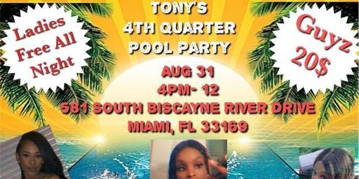 Tony'S 4th quarter pool party