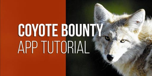 Coyote Bounty App Tutorial - Castle Dale