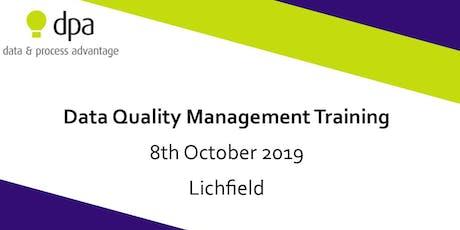 Data Quality Management Training tickets