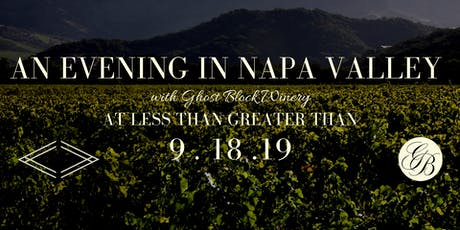 Napa Valley Wine Tour with Ghost Block tickets