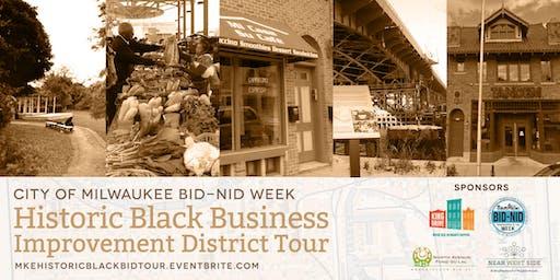 City of Milwaukee's BID/NID Week's Historic Black BID Tour